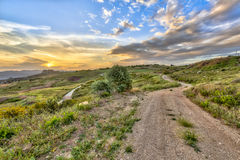 Dirt Road through Mediterranean landscape on the island of Cypru Royalty Free Stock Photography