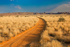 Namibia sand road Stock Photography