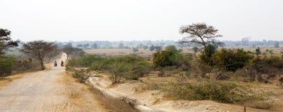 Dirt Road in Myanmar Landscape Stock Images