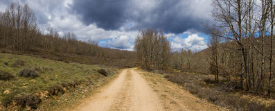 Dirt Road on Mount Oaks Stock Photo