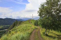Dirt road on the Mountain Devil's Finger. Royalty Free Stock Photos
