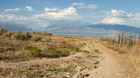 Dirt road in mountain landscape Royalty Free Stock Photo