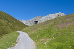 Dirt Road in the Mountains in Austria Stock Images