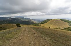 A dirt road in the mountains. Crimea. Stock Image