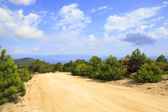Dirt road in the mountains. Royalty Free Stock Images