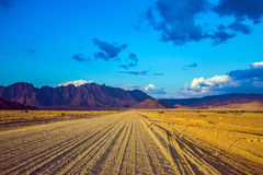 The dirt road in Namib-Naukluft Royalty Free Stock Photography