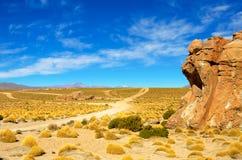 Dirt Road near Uyuni Bolivia Stock Photo
