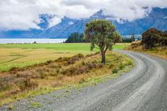 Dirt road in New Zealand Stock Photo