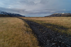 Dirt road. In the outback of Iceland Royalty Free Stock Photography