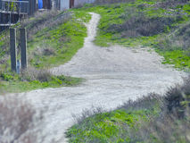 Dirt road on the outskirts of the city Stock Photography