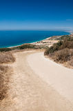 Dirt Road Overlooking Malibu Stock Photography