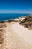 Dirt Road Overlooking Malibu. View Down a Dirt Road in Malibu California stock photography