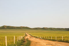Dirt road. The dirt road on the prairie Stock Photos