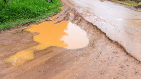 Dirt road after the rain Royalty Free Stock Photo