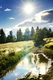 Dirt road after rain in the countryside of France Stock Photography