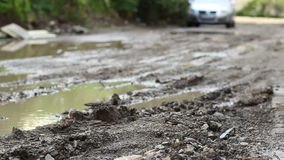 Dirt Road after Rain stock footage