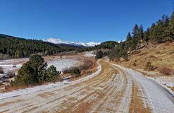 Dirt Road, Rocky Mountains, Colorado stock photo