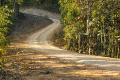 Dirt road. Rural roads in Underdeveloped country,Thailand Stock Image