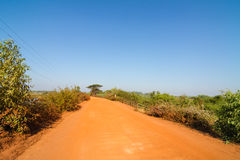 Dirt road in rural of Thailand Stock Photos
