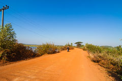 Dirt road in rural of Thailand Royalty Free Stock Photo
