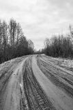 Dirt road with a rut Royalty Free Stock Photography