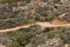 Dirt road through San Fernando valley Stock Photo
