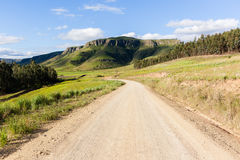 Dirt Road Scenic Mountains Stock Image