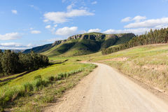 Dirt Road Scenic Mountains Stock Photo