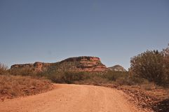 Dirt road into Sedona's Red Rock Country Royalty Free Stock Photography