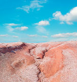 Dirt road and sky. Red dirt road and blue sky Stock Images