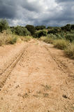 Dirt road in spain Royalty Free Stock Photos