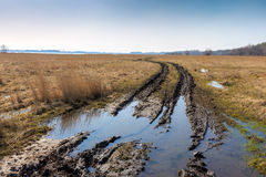 Dirt road in steppe Royalty Free Stock Image