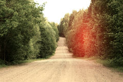 Dirt road at sunset Royalty Free Stock Photos