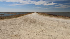 Dirt Road Between Two Pools Royalty Free Stock Photography