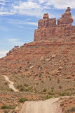 Dirt road through the Valley of the Gods. A short AWD road in southern Utah Stock Images