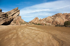 Dirt road into Vasquez Rock in California Stock Photo