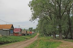 Dirt road in the village Royalty Free Stock Photo