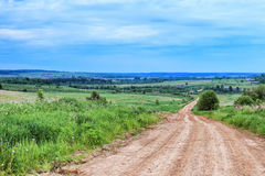 Dirt road in the village. At summer Royalty Free Stock Photography