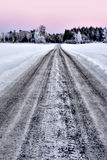 Dirt road in winter Stock Image