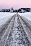 Dirt road in winter Stock Image