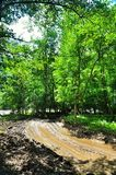 Dirt roads in Russia after the rain. Stock Photo