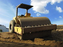 Dirt Rolling Machine Royalty Free Stock Images