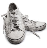 Dirt shose. Dirty shoes on a white background Stock Photos