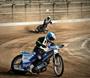 Dirt track curve. In Braila town, Romania, national contest Stock Photography