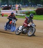 Dirt track motorcycle racing Royalty Free Stock Photography