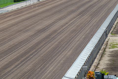 Dirt Track in Racecourse. Close up of a dirt track in racecourse Royalty Free Stock Photography