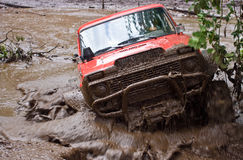 Dirt Track Racing. Special vehicle meant for racing in heavy terrain conditions in a dirt race Stock Images