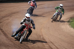 Dirt-track riders stock photos