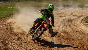 Dirtbike Action Scene Royalty Free Stock Image