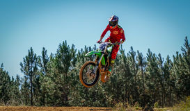 Dirtbike Action Scene Royalty Free Stock Photo
